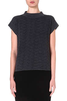 ARMANI COLLEZIONI Ribbed knitted top