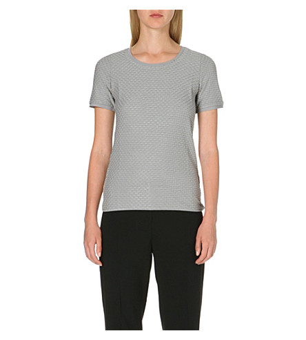 ARMANI COLLEZIONI Textured knit top (Grey