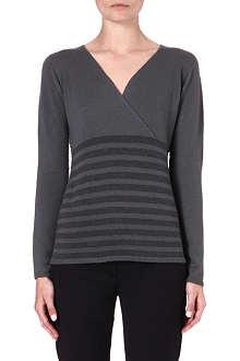 ARMANI COLLEZIONI Striped cashmere jumper