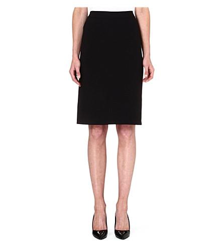 ARMANI COLLEZIONI Classic jersey pencil skirt (Black