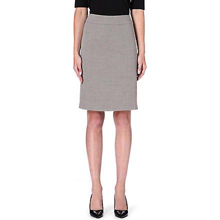 ARMANI COLLEZIONI Classic tweed pencil skirt (Beige
