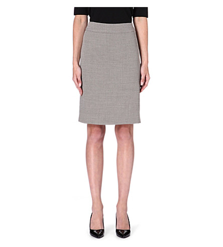 ARMANI COLLEZIONI Classic tweed pencil skirt (Beige