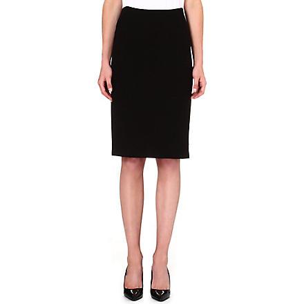ARMANI COLLEZIONI Wool-blend pencil skirt (Black