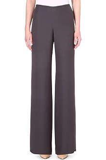 ARMANI COLLEZIONI Wide leg crepe trousers