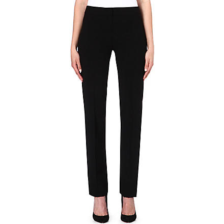 ARMANI COLLEZIONI Narrow-leg wool trousers (Black