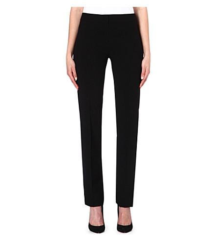 ARMANI COLLEZIONI Narrow-leg wool trousers (Black