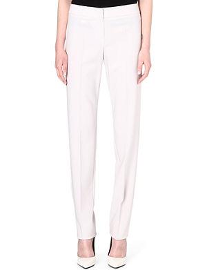 ARMANI COLLEZIONI Narrow-leg wool trousers
