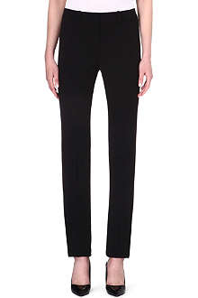 ARMANI COLLEZIONI Straight-leg stretch-wool trousers