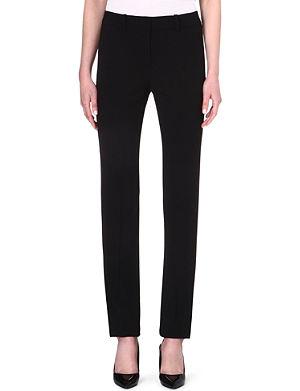 ARMANI COLLEZIONI Straight-leg stretch-wool trousers