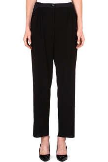 ARMANI COLLEZIONI Wool-blend harem trousers