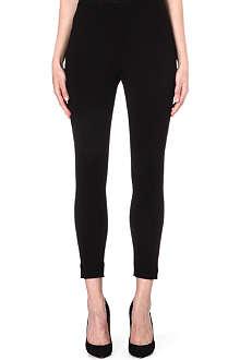 ARMANI COLLEZIONI Cropped stretch-jersey leggings