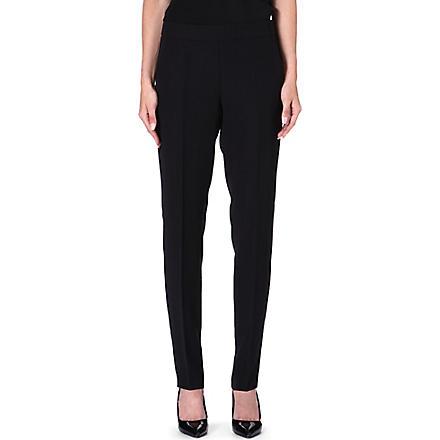 ARMANI COLLEZIONI Straight-leg cropped trousers (Black
