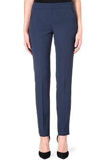ARMANI COLLEZIONI Straight-leg crepe trousers