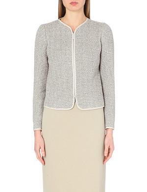 ARMANI COLLEZIONI Bouclé tweed jacket
