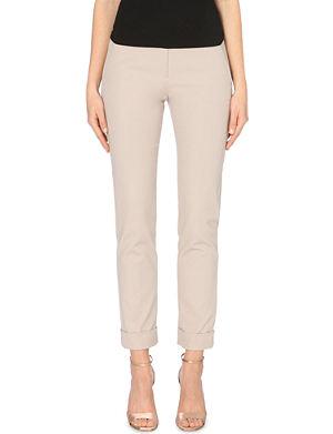 ARMANI COLLEZIONI Slim-fit stretch-cotton trousers