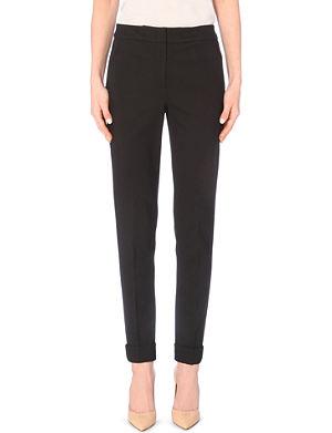 ARMANI COLLEZIONI Mid-rise crepe trousers