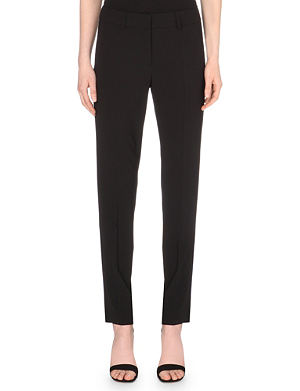 ARMANI COLLEZIONI Tapered stretch-wool trousers