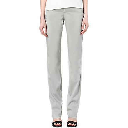 ARMANI COLLEZIONI Straight-leg high-rise jeans (Grey