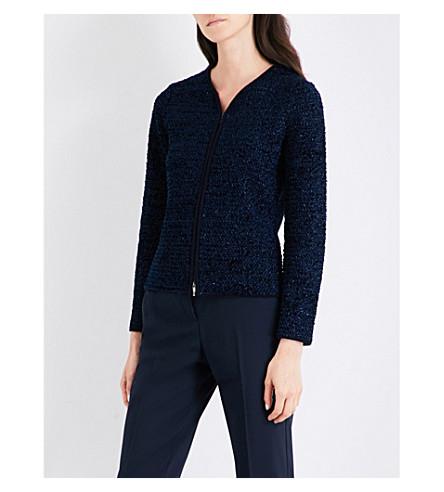 ARMANI COLLEZIONI Metallic tweed jacket (Navy