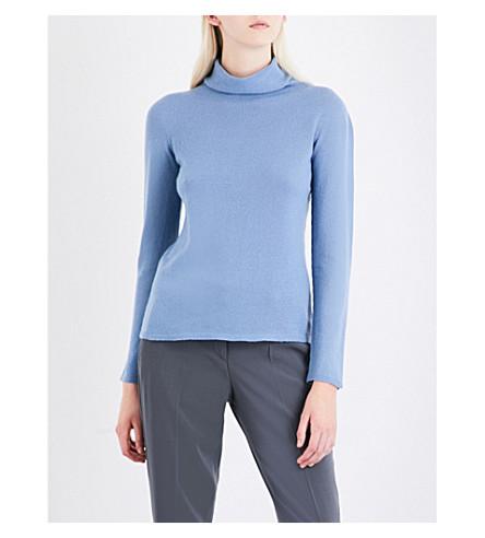 ARMANI COLLEZIONI Turtleneck cashmere jumper (Light+blue