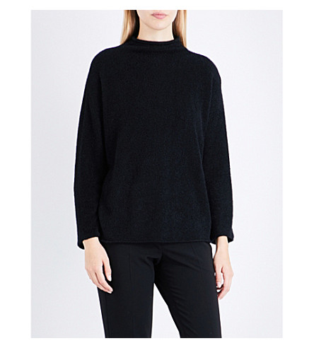 ARMANI COLLEZIONI High-neck knitted jumper (Black