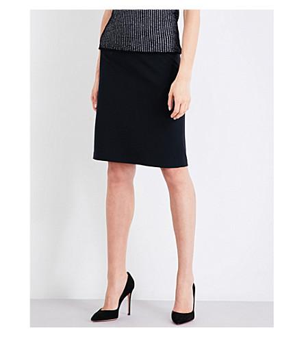 ARMANI COLLEZIONI Stretch-woven pencil skirt (Black