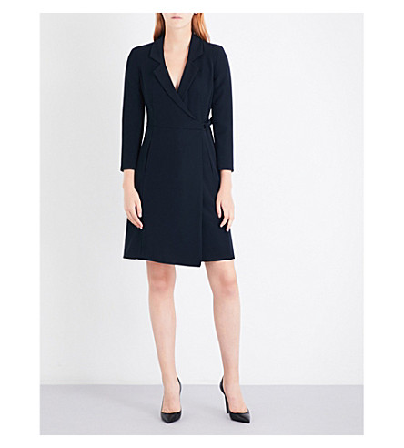 ARMANI COLLEZIONI Wrap dress (French+navy
