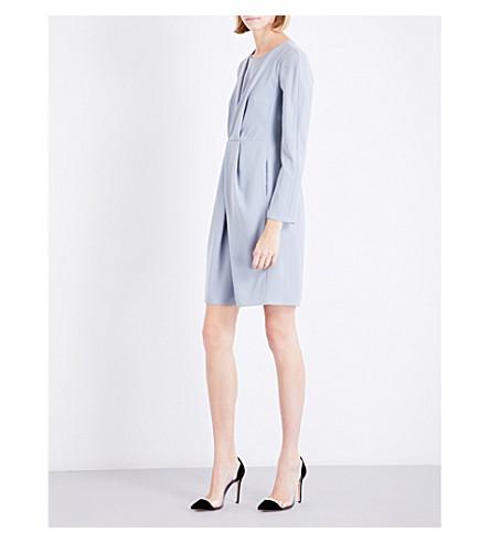 ARMANI COLLEZIONI Wrap-front woven dress (Aqua