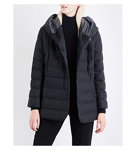 ARMANI COLLEZIONI Quilted wool and cashmere-blend coat (Grey