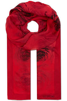 VALENTINO Rose dream chiffon scarf