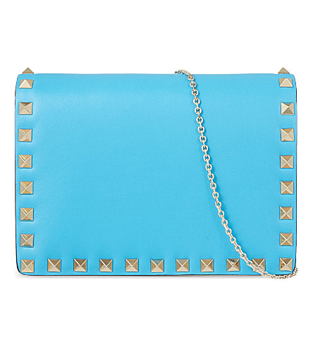 VALENTINO Rockstud cross-body bag (Bright+blue