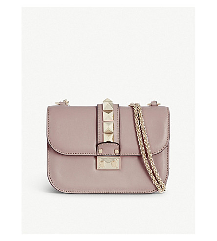 VALENTINO Stud lock small shoulder bag (Poudre