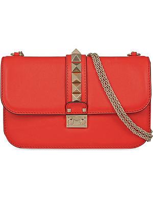 VALENTINO Studded medium leather shoulder bag