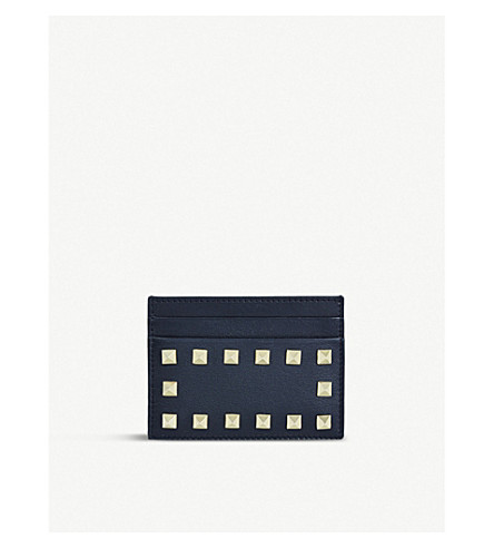 VALENTINO Studded card holder (Black