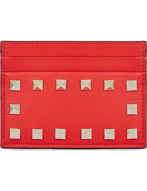 VALENTINO Studded card holder