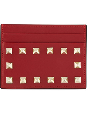 VALENTINO Studded card holder