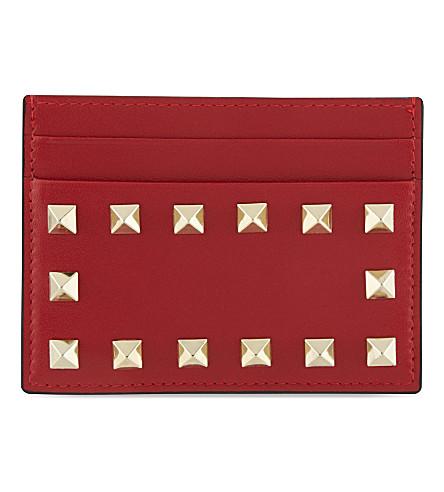VALENTINO Studded card holder (Red valentino