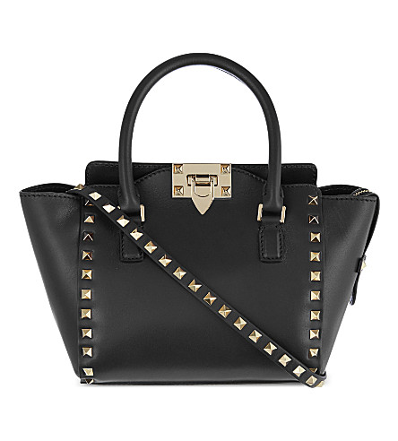 VALENTINO Rockstud mini leather tote (Black