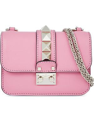 VALENTINO Mini lock studded clutch bag