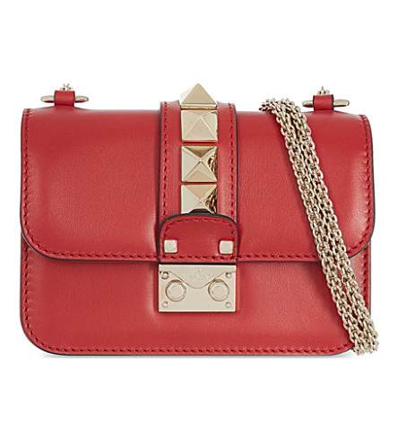 VALENTINO Rockstud lock mini clutch bag (Valentino+red