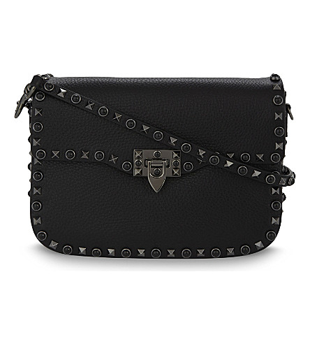 VALENTINO Native Couture Noir leather cross-body bag (Black