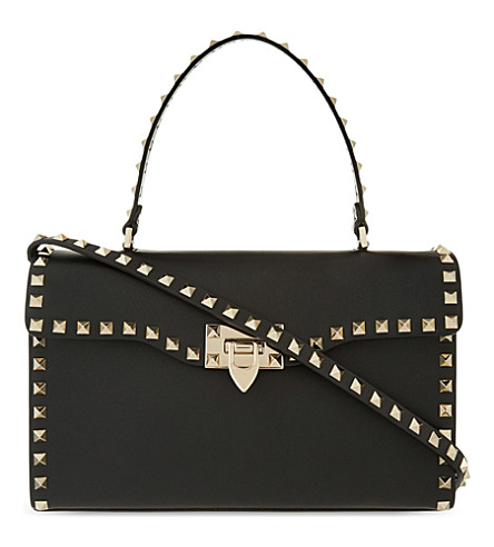 VALENTINO Rockstud leather tote (Black