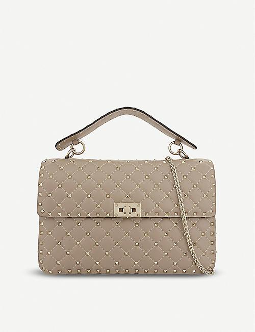 VALENTINO Rockstud large leather shoulder bag