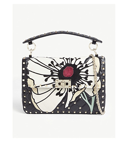 VALENTINO Quilted leather cross-body bag (Multi