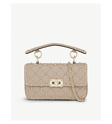 VALENTINO Quilted leather small shoulder bag (Poudre