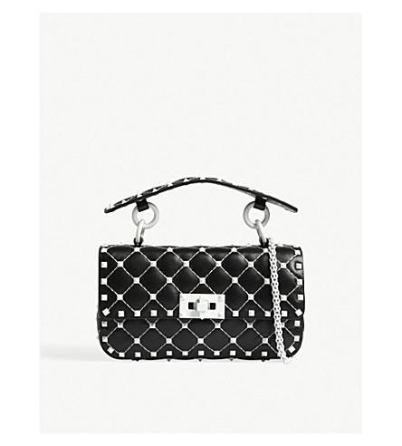 VALENTINO Rockstud leather cross-body bag (Black