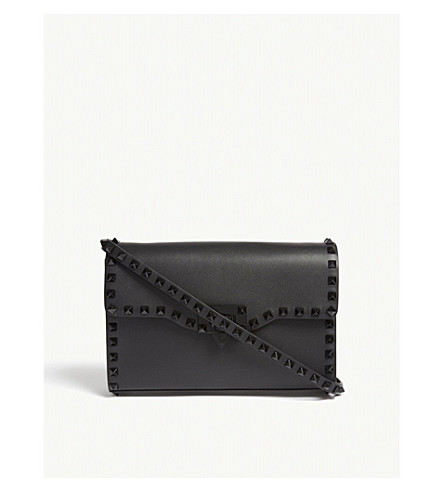 body Rockstud VALENTINO leather bag VALENTINO Rockstud bag black Black Black body cross cross leather UAqCvpw