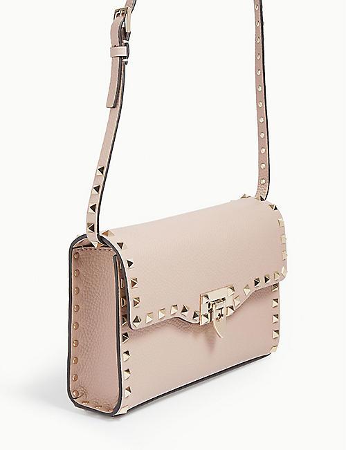 VALENTINO GARAVANI Rockstud leather cross-body satchel
