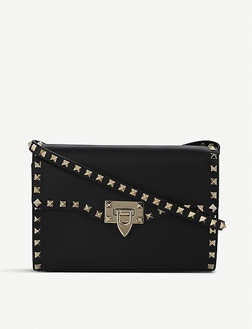 8c08459f5ae5 VALENTINO Rockstud leather cross-body bag