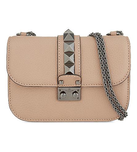 VALENTINO Lock stud small leather shoulder bag (Noisette